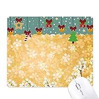 桜の白い花びらパターン日本 ゲーム用スライドゴムのマウスパッドクリスマス