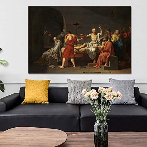 sanzangtang Berühmte Gemälde Sokrates Leinwand Wandbilder auf Plakaten und Drucke an der Wand Rahmenlos 20x30cm