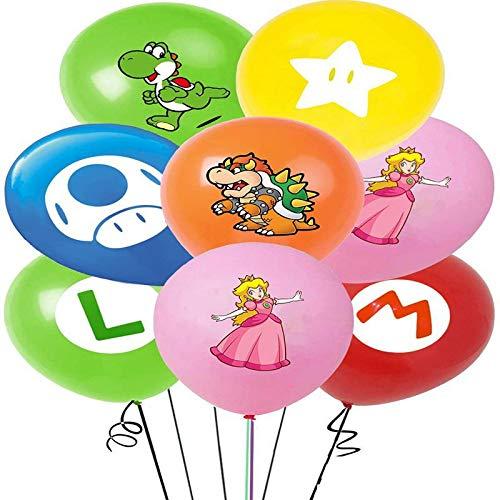 42 Stück Super Mario Geburtstags ballons, Super Mario Partyzubehör 12 Zoll Mario Bros Ballon Mario Dekorationsset für Birthday Partydekorationen