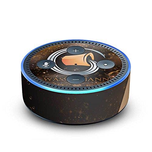 DeinDesign Cover kompatibel mit Amazon Echo Dot 2.Generation Folie Skin Sticker aus Vinyl-Folie Sternzeichen Wassermann Astrologie