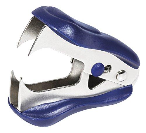 Wedo 10281103 Enthefter KLAX, Sicherheitsarretierung, durchgehende Kunststoffschale, blau