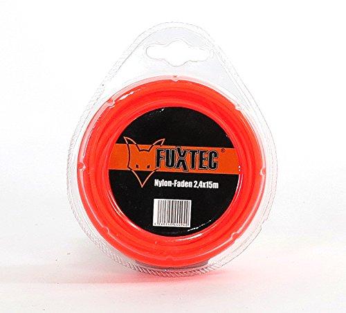 Fuxtec 2,4 x 15m Nylon-Faden Mähfaden Fadenspule Benzin Motorsense