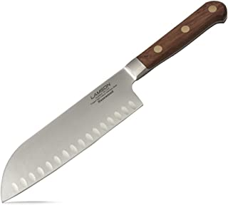 Lamson 39753 Rosewood Forged 7-inch Kullenschliff Santoku Knife