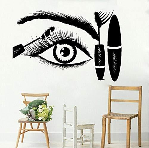 chenwasd.co Cils Oeil Sticker Autocollant Creative Eye Sourcils Beauté Salon Boutique Décor Maquillage Room Décoration Murale 42 * 63 Cm