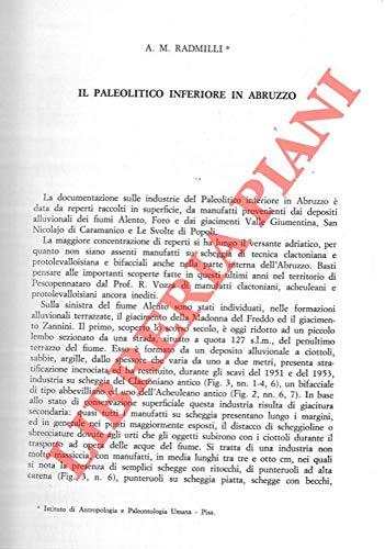Il Paleolitico inferiore in Abruzzo.