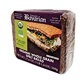 Genuine Bavarian ORGANIC Whole Grain Spelt Bread, 17.6oz (6 packages)