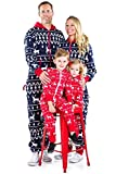 Tipsy Elves Baby Red Fair Isle Christmas Jumpsuit One Piece Pajamas - Infant PJ's for Christmas: 18-24M
