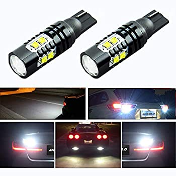 HOCOLO LED Extremely Bright Max 50W High Power T10 198 194 168 912 921 LED Bulb For Backup Reverse Lights Xenon White  Set of 2   T10/198/194/168 Light White
