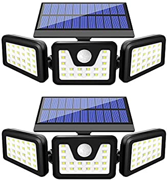2-Pack Beacon 800LM Wireless LED Solar Motion Sensor Lights Outdoor