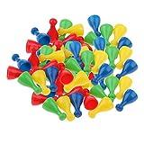 Sharplace 64 Stück Kunststoff Halmakegel Kegel Spielfiguren für Halmaspiel -
