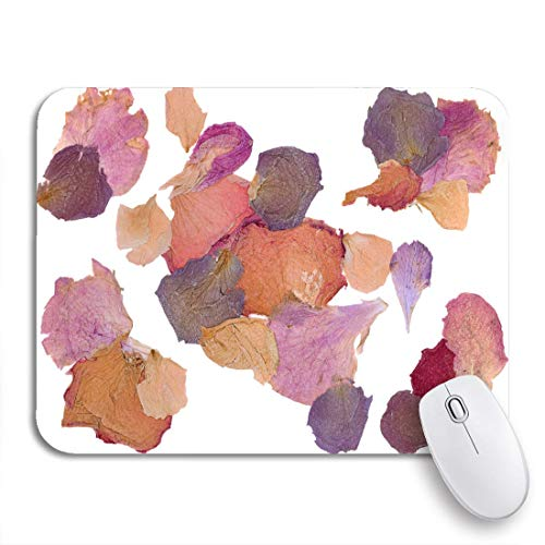 Mousepad Print Mouse Mat Mouse Pad,Colorful Dry Dried Flower Petals Pink Pressed Potpourri Rose,Office Mousemat Mousepads Desk Accessory Office Gift