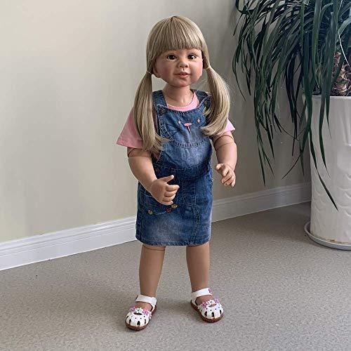 NOSSON muñeca renacimiento, juguetes para niños renacer 87CM niña muñeca realista artista Desgin bola articulada muñeca real niño tamaño edad 2 niños ropa modelo coleccionable muñeca alta calidad