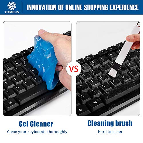 top4cus Cleaning Gel Auto Car Detailing Putty Magic Detail Tools Car Interior Cleaner Dust Removal Gel for Car Vent, Keyboard, Laptop, PC Tablet, Home Use, Office, Cameras, Printers(Blue)