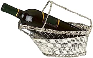 Silver Plated Wine Bottle Cradle - Wine Caddy or Pourer by Home Bar Source
