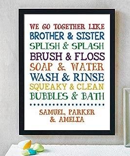 Children Bathroom Paper Art Print, Bathroom Sign, Kids Bathroom, Kids Bathroom, Bathroom Art Wall Decor, Gender Neutral Bathroom, Boy Girl Bathroom Decor, Shared Bathroom Decor