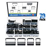 Glarks 70Pcs 2.54mm Pitch Dual Rows IDC Sockets 10 16 20 26 Pin Female Header Rectangular Connector Adapter...