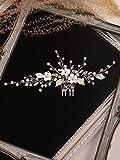 TSP Accesorios para el pelo de la moda de la flor de plata peine de cristal Rhinestone perla coreana horquilla de boda tocado mujeres accesorios de novia joyería para el cabello (color: plata)