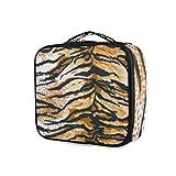 Herramientas Estuche de tren cosmético Bolsa de aseo Bolsa de maquillaje Almacenamiento portátil Arte Animal Tigre Piel Monedero Viaje