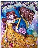 Fanxp Beauty and Beast - Puzzle de madera decorativo (1000 unidades)