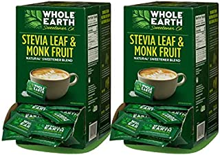 WHOLE EARTH SWEETENER Stevia Leaf and Monk Fruit Sweetener, Erythritol Sweetener, Sugar Substitute, Zero Calorie Sweetener...