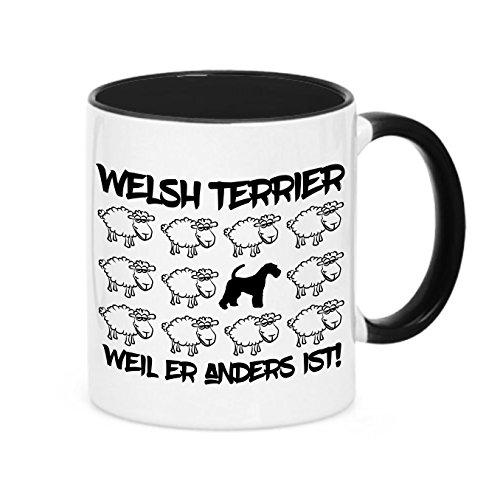 Siviwonder Tasse Black Sheep - Welsh Terrier - Hunde Fun Schaf Kaffeebecher