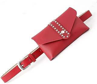MYCHOMEUU New Personality Bag Decoration Ladies Belt Wild Belt Belt Belt Mobile Phone Purse Belt (Color : Red, Size : 105 * 2.4cm)