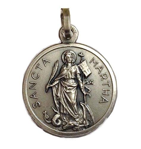 Igj Medalla de Santa Marta de Plata Maciza 925