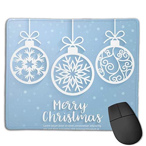 Vrolijk kerstbal papier gesneden kunst muismat bundel gestikte randen Gaming Muis Mat Pad Niet Slip Rubber Base Dikke Mousepad