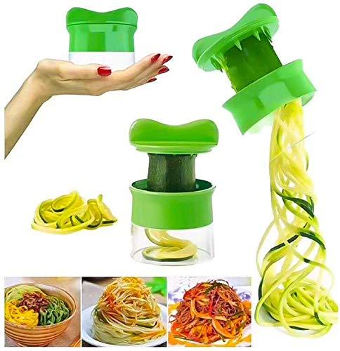 Wagtail Espiralizador de Vegetales de Mano, máquina de Fideos, rebanador de Vegetales, rallador de Pepino de Zanahoria y Pepino Cortador de Espiral, calabacín.