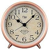 LTLJX Alarma Ronda de Relojes de Alarma Reloj de Mesa de Noche silenciosa batería del Reloj for no tictac Decoración for Ministerio Relojes de Alarma (Color: Rojo, Tamaño: 10.8x5.3x10.8cm) LUDEQUAN