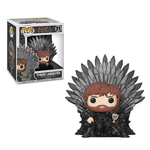 YYBB POP TV: Juego de tronos - Tyrion Lannister Sentado Sentado en el Trono de Hierro Modelo figura de acción de la estatuilla y la Caja Colección exquisita decorativos Juguetes 5,9 pulgadas figurines