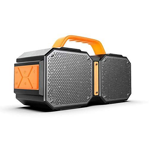 YANGSANJIN Bluetooth-luidspreker, draadloze bluetooth-luidspreker, ingebouwde 3,5 inch middel-bas, 1 inch tweeter systeem, draagbare kaartenluidspreker, subwoofer 40 W super power klinken