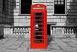 1art1 London - Rote Telefonzelle Poster 91 x 61 cm