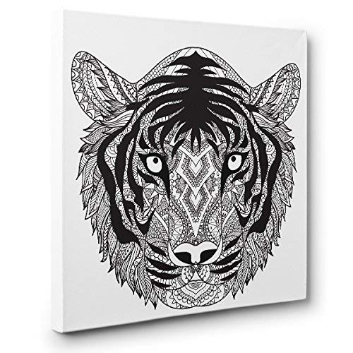 Tiger unisex Head Art Max 69% OFF Therapy Decor Canvas Home Coloring