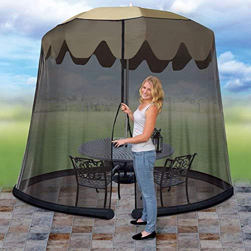 ZHTY Moustiquaire de Parasol de Patio, diamètre 275 cm, Hauteur 220 cm, moustiquaire en Polyester, moustiquaire de Parasol d'extérieur Best Choice Products