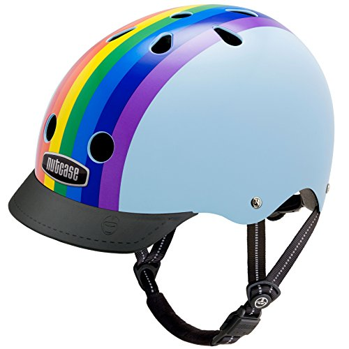 Nutcase Gemusterter Street Bike  für Erwachsene, Mehrfarbig (Rainbow Sky), M (56-60 cm)