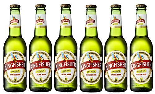 6x Kingfisher Premium Lager Bier 330ml Indisches Bier