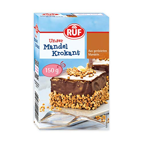 RUF Mandel-Krokant geröstete Mandeln karamellisiert, 11er Pack (11 x 150 g)