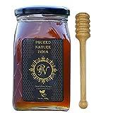 POURED NATURE Pure Raw Honey, 100% Purity, Organic Wild Honey No Added Sugar, 500g (Free Honey Dipper)