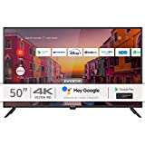 INFINITON INTV-50AF2300– Televisor Smart TV 50' 4K UHD – Android 9.0 – Google Assistant – HBBTV – 4X HDMI – 3X USB - DVB-T2/C/S2 - Modo Hotel – Clase A+