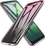 MARR Coque de protection en TPU pour Motorola Moto G8 Plus - Transparent - Flexible - En silicone -...