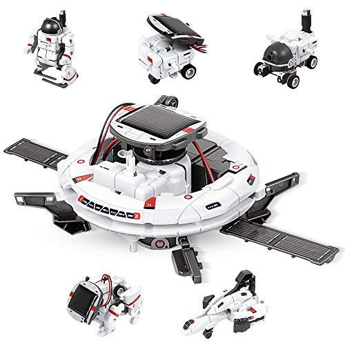 Anpro robot jouet Solaire 6 en 1 ,Jouet Robotique Mode Double Solaire Et Batterie Educatif 72 PCS,Jouet Robot pour Les Enfants Education de Energie et Scientifiques