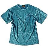 [EVERSOUL] エバーソウル Tシャツ ポケット付 タイダイ ムラ染め パンク ロック ビジュアル系 ターコイズ L