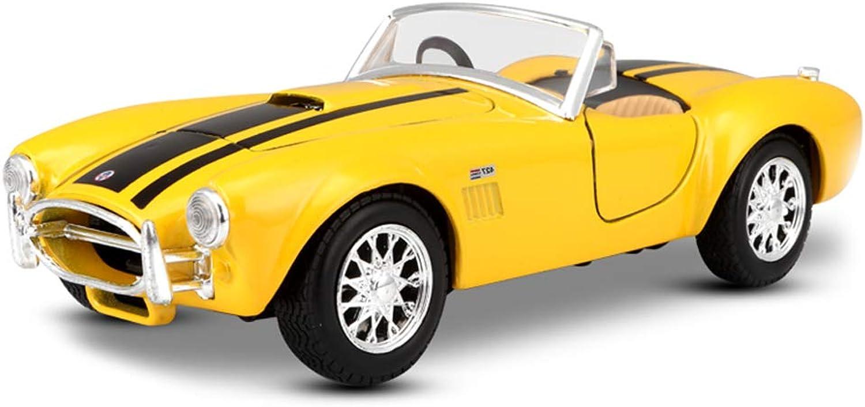 Entrega gratuita y rápida disponible. FDHLTR Modelo de Coche Coche 1 24 Shelby Cobra 427 427 427 aleación de simulación de fundición de Juguete joyería joyería de colección de Coche Deportivo joyería 17.5x7x5CM Modelo de Auto (Color   amarillo)  barato