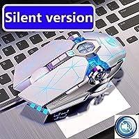マウス Pro Gaming Mouse 3200DPI調節可能なサイレントマウス光LED USB有線コンピュータマウスのノートブックゲームマウスのためのゲームマウス ラップトップのためのマウス (Color : G3OS White)