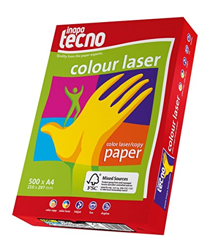 Colour Laser–A4, 100g/m², color blanco, 500hojas de papel especial blanca con superglatter superficie garantiza Impresiones de alto contraste en vez de alta color y detalle, especialmente también en halbtönen. Para Aplicaciones a todo color de alta resolución en todos las impresoras láser color y fotocopiadoras–. Ideal para todos los DTP de aplicaciones.