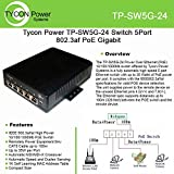 Tycon Systems TP-SW5G-24 5 Port High Power POE Switch - 10-36V DC Input