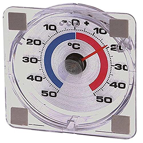 Westmark Thermomètre de Fenêtre, Plage de mesure entre -50 °C jusqu'à +50 °C, Plastique, Blanc/Rouge/Bleu, 52122280