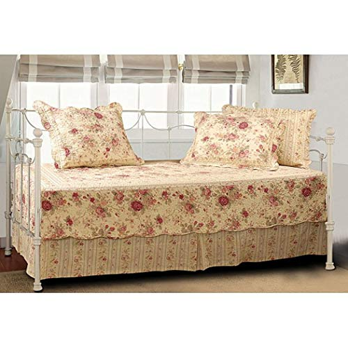 Greenland Home Antique Rose Cotton 5-Piece Quilted Daybed Set