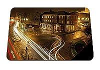 22cmx18cm マウスパッド (夜市ストリートレーンライトモーションマーキング) パターンカスタムの マウスパッド